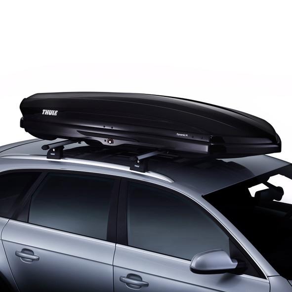 bagageiro maleiro de teto thule dynamic m capacidade de. Black Bedroom Furniture Sets. Home Design Ideas