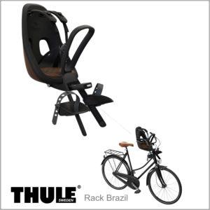 Cadeirinha dianteira para bicicleta Thule Yepp Nexxt Mini Cor Marrom